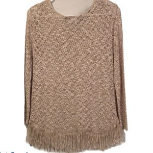 - Brittany Black beige open weave top